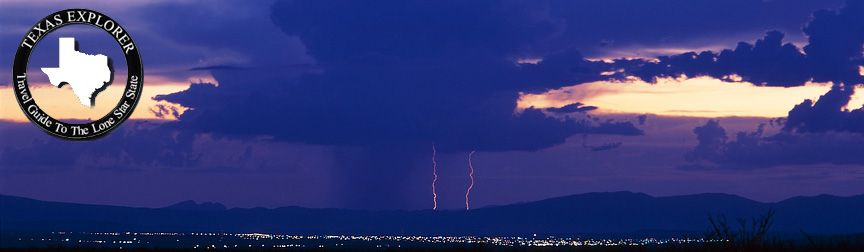 Lightning over Presidio from Big Bend Ranch State Park