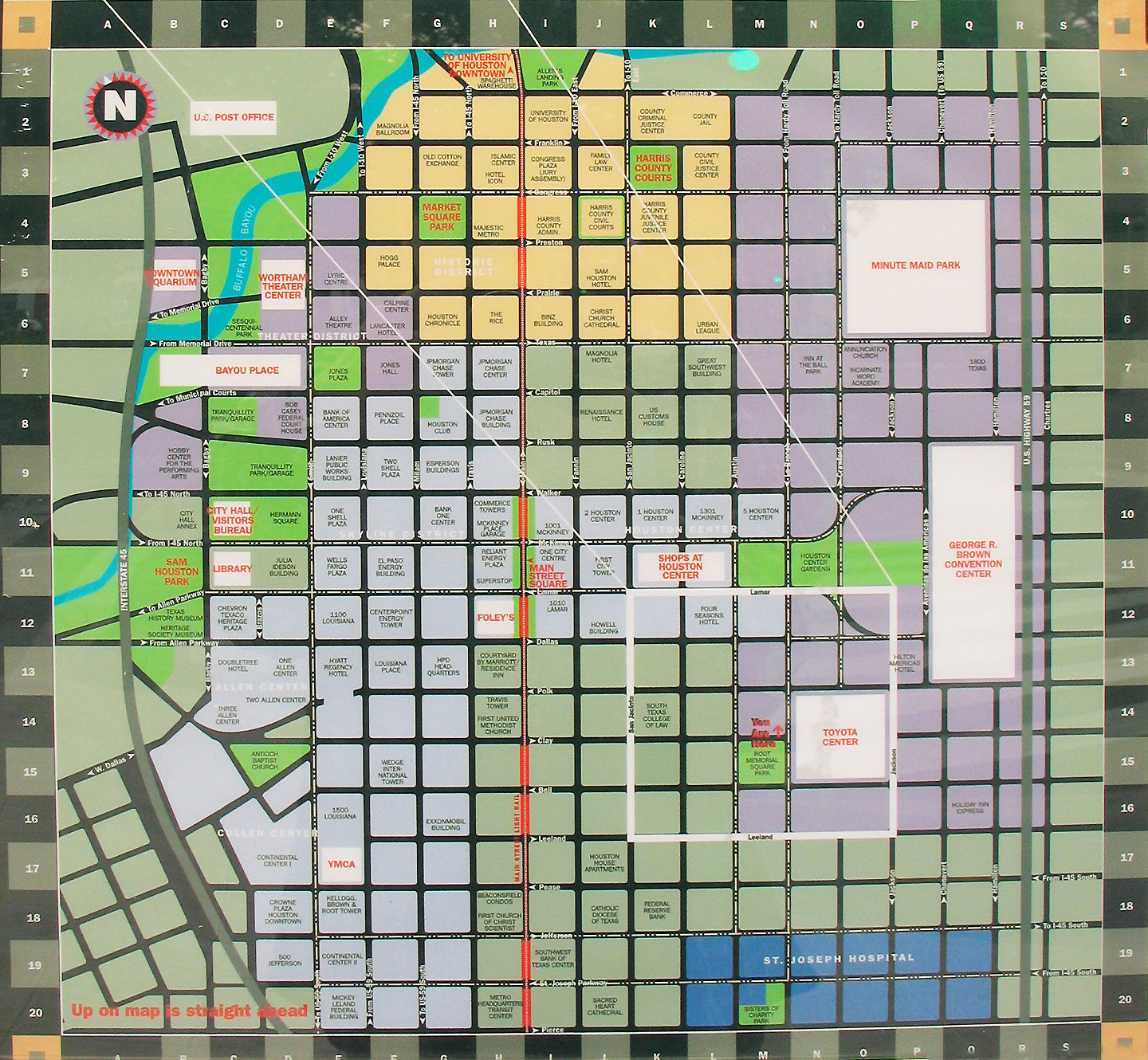 Map of Downtown Houston