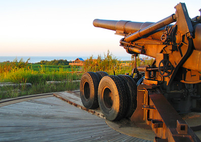 World War II gun at Quintana Beach County Park.